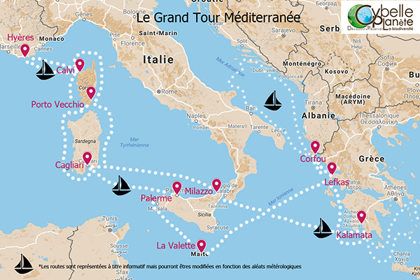 NL 46 map Grand Tour Mediterranee2017 Cybelle planet